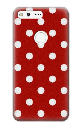 Printed Red Polka Dots Google Pixel XL Case