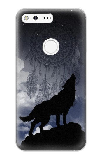 Printed Dream Catcher Wolf Howling Google Pixel XL Case