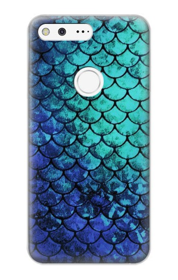 Printed Green Mermaid Fish Scale Google Pixel XL Case