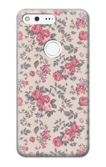 Printed Vintage Rose Pattern Google Pixel XL Case