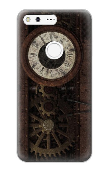 Printed Steampunk Clock Gears Google Pixel XL Case