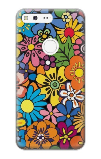 Printed Colorful Flowers Pattern Google Pixel XL Case