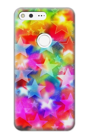 Printed Colourful Disco Star Google Pixel XL Case
