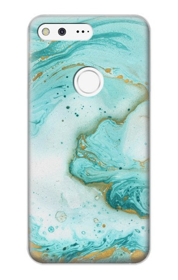 Printed Green Marble Graphic Print Google Pixel XL Case