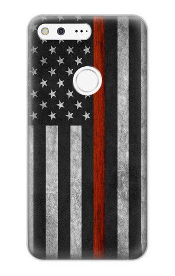 Printed Firefighter Thin Red Line Flag Google Pixel XL Case