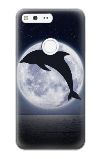 Printed Dolphin Moon Night Google Pixel XL Case
