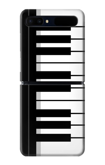 Printed Black and White Piano Keyboard Samsung Galaxy Z Flip 5G Case