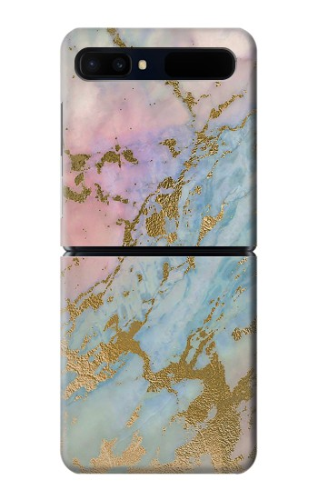 Printed Rose Gold Blue Pastel Marble Graphic Printed Samsung Galaxy Z Flip 5G Case