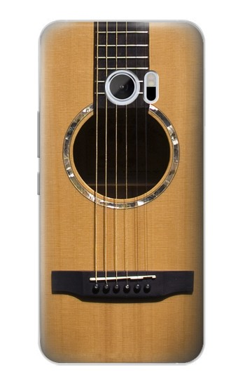 Printed Acoustic Guitar HTC 10 Case