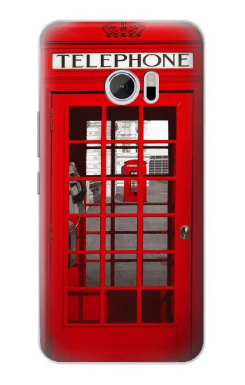 Printed Classic British Red Telephone Box HTC 10 Case