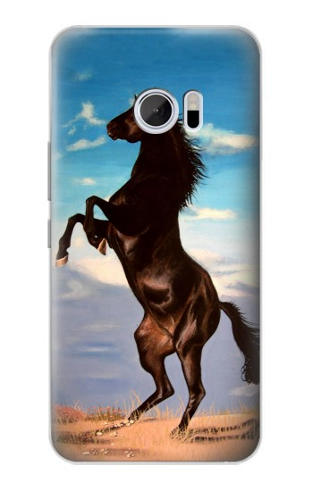 Printed Wild Black Horse HTC 10 Case