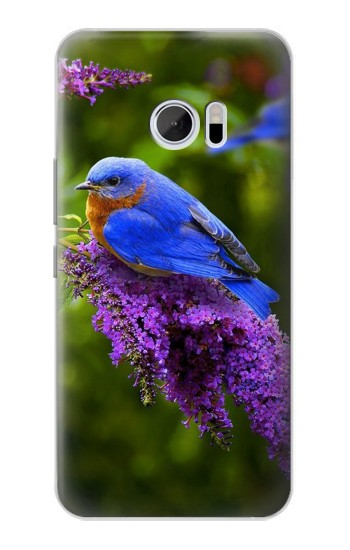 Printed Bluebird of Happiness Blue Bird HTC 10 Case