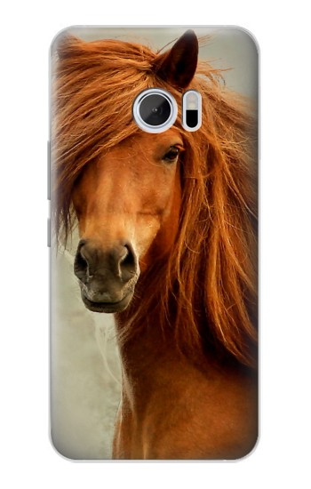 Printed Beautiful Brown Horse HTC 10 Case