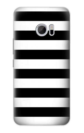 Printed Black and White Striped HTC 10 Case