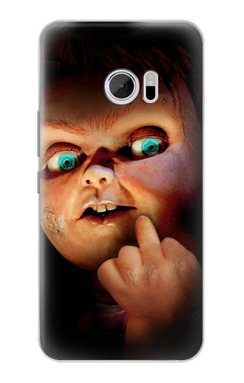 Printed Chucky Middle Finger HTC 10 Case