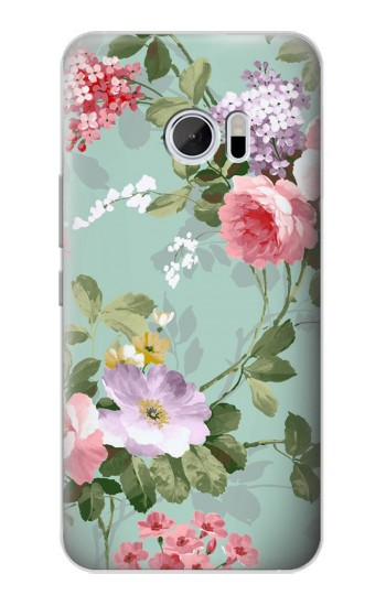 Printed Flower Floral Art Painting HTC 10 Case