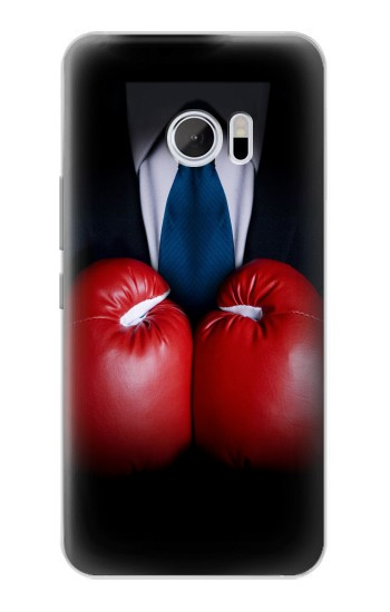 Printed Businessman In Black Suit With Boxing Gloves HTC 10 Case