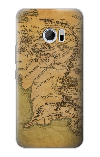 Printed The Lord Of The Rings Middle Earth Map HTC 10 Case