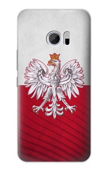 Printed Poland Football Flag HTC 10 Case