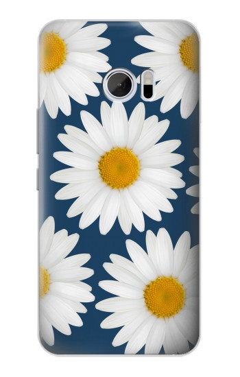 Printed Daisy Blue HTC 10 Case