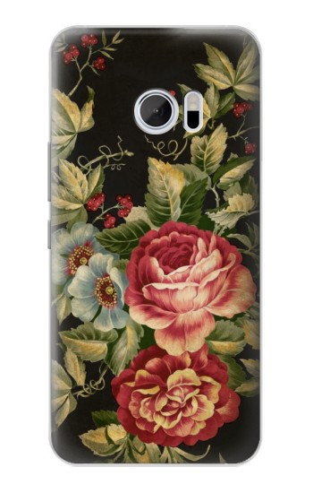 Printed Vintage Antique Roses HTC 10 Case
