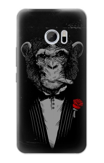 Printed Funny Monkey God Father HTC 10 Case
