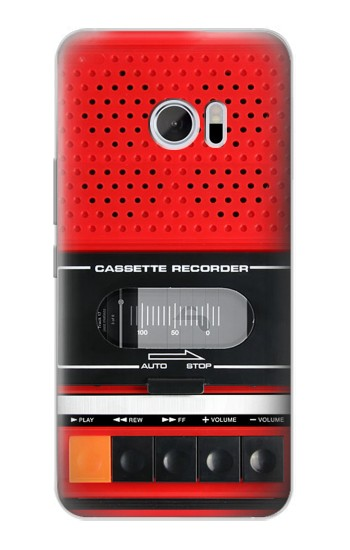 Printed Red Cassette Recorder Graphic HTC 10 Case