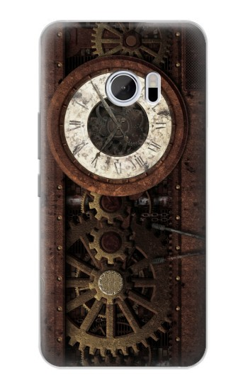 Printed Steampunk Clock Gears HTC 10 Case