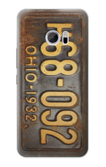 Printed Vintage Car License Plate HTC 10 Case