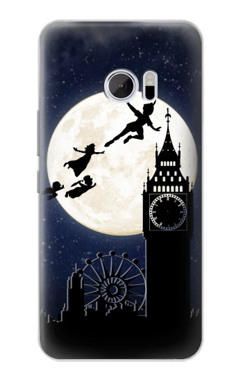 Printed Peter Pan Fly Fullmoon Night HTC 10 Case