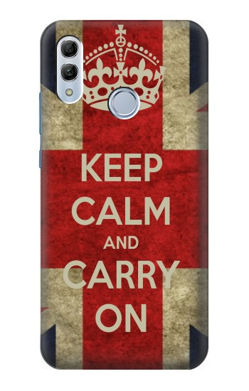 Printed Keep Calm and Carry On Huawei Honor 10 Lite Case