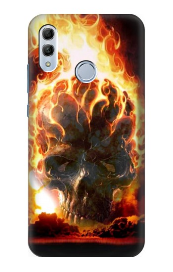 Printed Hell Fire Skull Huawei Honor 10 Lite Case