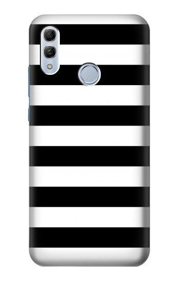Printed Black and White Striped Huawei Honor 10 Lite Case