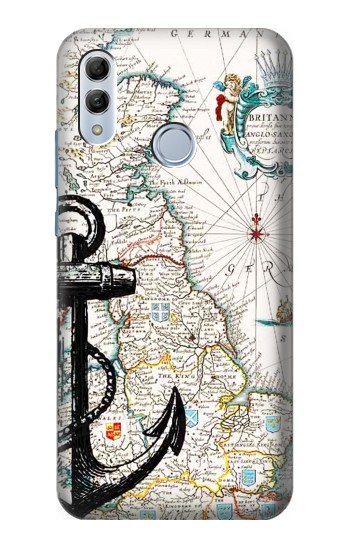 Printed Nautical Chart Huawei Honor 10 Lite Case