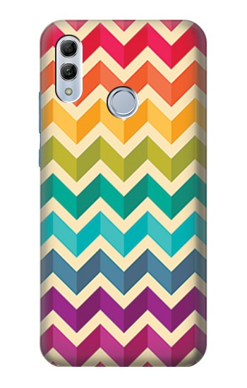 Printed Rainbow Colorful Shavron Zig Zag Pattern Huawei Honor 10 Lite Case