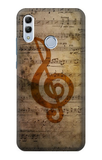 Huawei Honor 10 Lite Sheet Music Notes Case Cover
