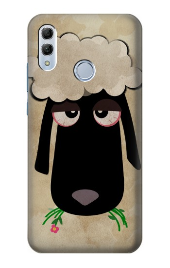 Printed Cute Cartoon Unsleep Black Sheep Huawei Honor 10 Lite Case