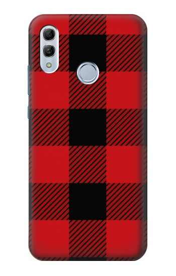 Printed Red Buffalo Check Pattern Huawei Honor 10 Lite Case