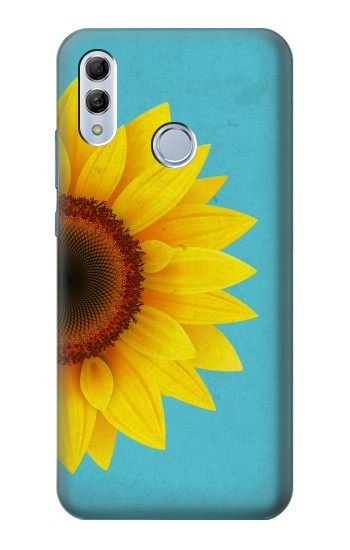 Printed Vintage Sunflower Blue Huawei Honor 10 Lite Case