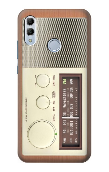 Printed FM AM Wooden Receiver Graphic Huawei Honor 10 Lite Case