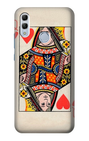 Printed Queen Hearts Card Huawei Honor 10 Lite Case