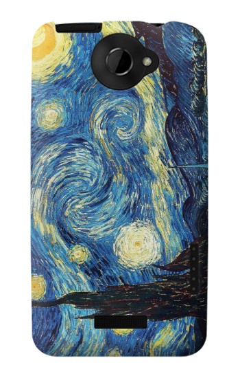 Printed Van Gogh Starry Nights HTC One X Case