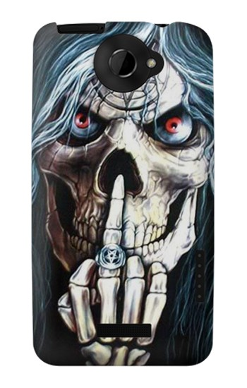 Printed Skull Pentagram HTC One X Case