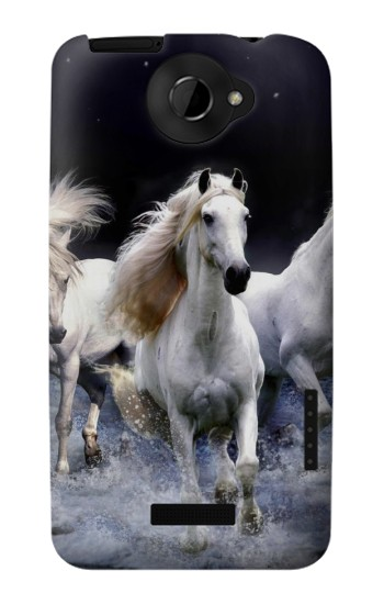 Printed White Horse HTC One X Case