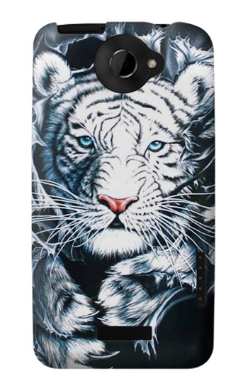 Printed White Tiger HTC One X Case