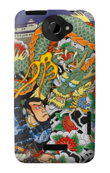 Printed Japan Tattoo HTC One X Case