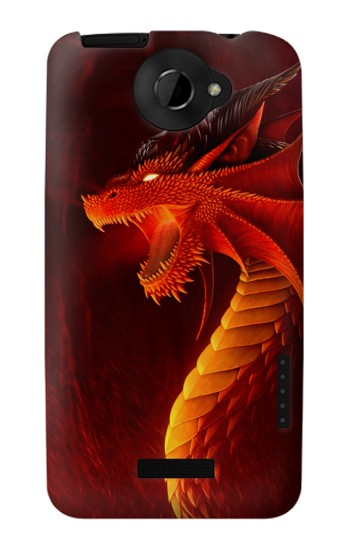 Printed Red Dragon HTC One X Case