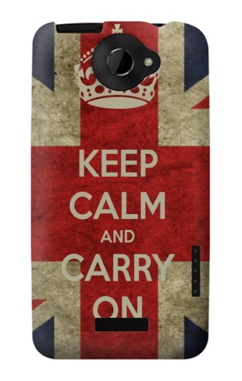 Printed Keep Calm and Carry On HTC One X Case