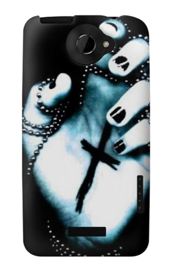 Printed Dark Gothic Cross Hand HTC One X Case