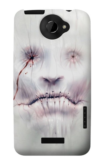 Printed Horror Face HTC One X Case